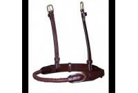 Muserolle corde cuir Dyon