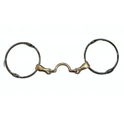 Mors releveur grands anneaux avec passage de langue Jump'in