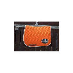 Tapis de selle ORANGE/VERNI BLANC/MARINE Jump'in